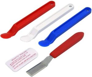 Scotty Peeler Label, Sticker,  Price Tag Removers 3 Plastic & 1 Metal SP-2