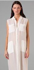 Alexander Wang Silk Chiffon Shirt dress with Pockets size M