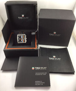 Limited Edition Tag Heuer Monaco Gulf 39mm CW211A Automatic Chronograph Watch