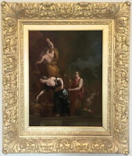 An Offering to the Gods Antique 17th Century French Old Master Oil Painting