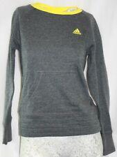 NEW Girls Kids Youth ADIDAS BX-R77MT N 05 DGH Grey Yellow Pullover Sweatshirt