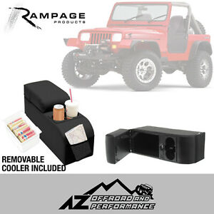 Rampage Padded Locking Center Console 76-95 Jeep CJ-7 & Wrangler YJ 32001 Black