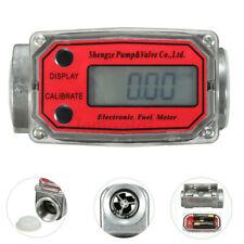 New Listingturbine 1in Digital Diesel Oval Gear Flow Fuel Meter Gauge 15 120lmin Red Us