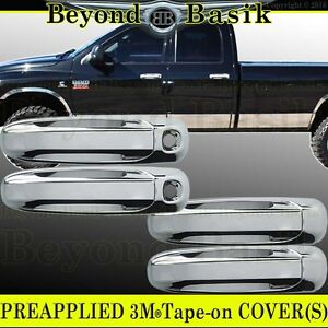 WITHOUT Passenger Keyhole RAM 1500+2500+3500 02-2008 A-PADS 2 Chrome Door Handle Covers for Dodge DAKOTA 2005-2011