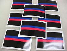 8 THIN RED & BLUE LINE FLAG Sticker Decals 4 Fire EMT EMS Police Car Window