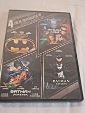 4 Film Favorites: Batman Collection (DVD, 2009, 2-Disc Set) Warner Brothers