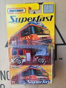 MATCHBOX 2006 SUPERFAST - DENNIS SABRE FIRE TRUCK [RED]  NEAR MINT VHTF