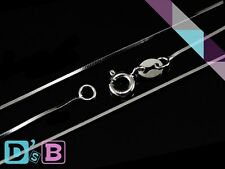 """Elegant 18"""" 925 Sterling Silver Square Snake Necklace Chain .925 Fine Jewelry"""