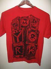 Zoo York Stereo Speaker Tweeter Woofer Old School Urban Fashion Red T Shirt Med