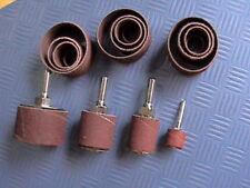 8 x Schleifwalze + 32 x Schleifband Schleifzylinder Schleifrolle Schleifpapier