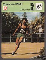 LEE EVANS Running USA Olympics Track & Field 1979 SPORTSCASTER CARD 59-04