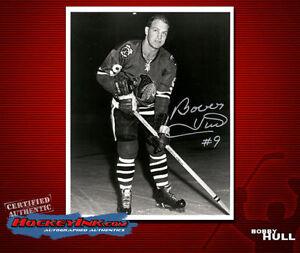 Bobby Hull SIGNED Chicago Blackhawks 8 x 10 Photo - 70089