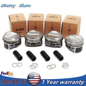4x Oversize Pistons Rings Set Φ23mm Wrist Fit For VW Jetta AUDI A3 A4 A5 TT 1.8T