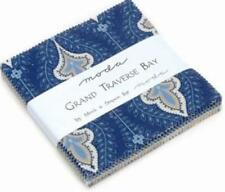 """2 TWO Charm Packs Grand Traverse Bay 5"""" Squares Moda Fabric Quilt"""