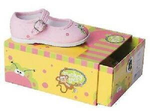 Flutterflies MJ's Pink Monkey-Toes Mary Jane Canvas Shoes Infant/Toddler
