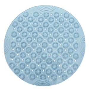 PVC Round Bath Mat Household Shower Room Drain Sucker Floor Pad Bathroom Massage