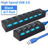 4/7 Porte USB 3.0 HUB Splitter Expander Interruttore adattatore ad alta velocità