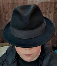 Jaxon Black Trilby Hat - Size Small/Medium