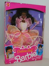 Costume Ball Barbie Doll #7134 African American By Mattel 1990 Vintage