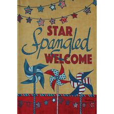 "STAR SPANGLED 12.5"" X 18"" GARDEN FLAG 27-2759-211 FLIP IT! RAIN OR SHINE SUMMER"