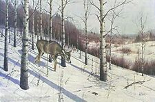 """THE EMPTY STAND"" & WHITETAIL COUNTRY"" 2 Rare Deer Mint s/n Prints By Les Kouba"