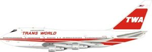 BOEING 747SP-31, TWA REG: N57203 WITH STAND - INFLIGHT 200 IF747SPTW1221 1/200