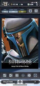 Topps Star Wars Card Trader Digital Reflections Jango Fett & Mace Windu