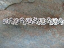 Flower Silver Plated French Clip Hair Barrette 100MM Clip Made in USA 6037S New