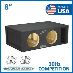 """Dual 8"""" Competition Ported Vented Sub Box Dual Subwoofer Enclosure Competition"""