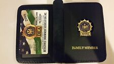"""""""1 2018 COLLECTIBLE"""" NEW NYPD DEA PBA CARD WITH LEATHER DETECTIVE  FAMILY WALLET"""