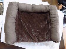 Plush Sofa Orthopedic Pet Bed: Espresso/Small