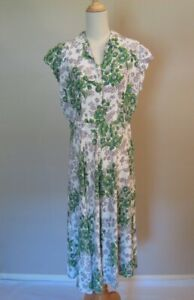 Vintage 1940's Rayon Floral Print Dress