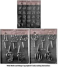 Alphabet (A-Z) Numbers and Letters Chocolate Candy Mold,Number 1 to 5 CANDY MOLD