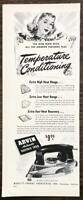 1947 Arvin Electric Iron Print Ad Temperature Conditioning Noblitt-Sparks