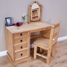 Corona Dressing Table Desk 4 Drawer Mexican Solid Pine by Mercers Furniture®