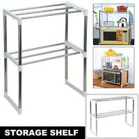 2 Tiers Microwave Oven Rack Holder Kitchen Tools Storage Stand Shelf Organiser