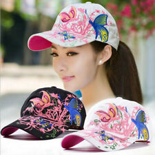 New ListingBaseball Cap For Women With Butterflies And Flowers Embroidery Adjustable