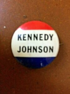 Original Pin Badge for 1960 US Presidential Election - Kennedy, Johnson