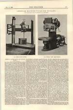 1899 American Machine Tools For England Niles