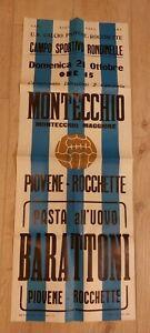 Poster Calcio MONTECCHIO MAGGIORE / PIOVENE ROCCHETTE   Anni 60