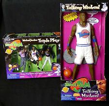 "Michael Jordan Space Jam Movie 15"" Talking Figure and Triple Play Box Set 1996"