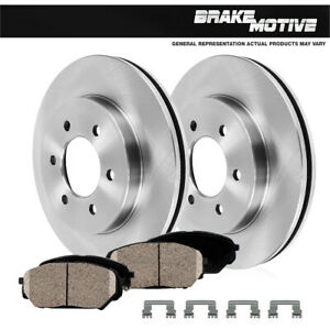 Front Rotors And Ceramic Pads For 2009 2010 2011 2012 2013 2014 Chevy Traverse