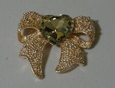Large Rose Gold Diamante Crystal Bow Fashion Brooch Brand New FREE P&P