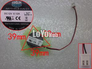 NEW A4010-45LB-2UN-C1 FA7C0412MA-SBNNA 12V 0.12A 2Pin Cooling Fan PLD05010S12H
