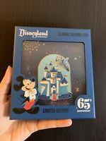 Disney DLR Disneyland 65th Anniversary Jumbo Castle Pin With Slider Loungefly LE