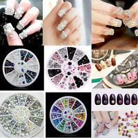 3D Nail Art Rhinestones Glitters Acrylic Tips Gem Glitter Decor Manicure Wheel