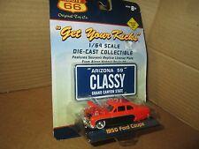 1950 ford coupe classy mini  arizona tag   route 66 toy co 1:64 Scale