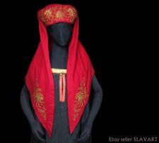 ANTIQUE ethnic beaded headdress Russia Armenia Caucasus renaissance folk costume
