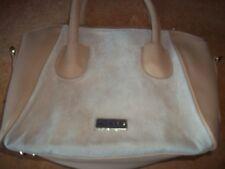 Ted  Lapidus BEIGE hand bag PVC pig skin leather front no shoulder straps NEW