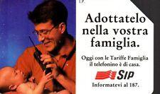 16-Scheda telefonica adottatelo nella famiglia scadenza 31/12/1995 lire 5.000